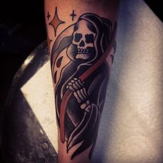 traditional reaper tattoo flash   Traditional Grim Reaper Flash Tumblr grim reaper tattoo