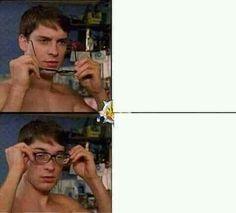 Memes Humor, New Memes, Jokes, Meme Meme, Funny Reaction Pictures, Meme Pictures, Meme Template, Templates, Glasses Meme