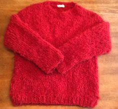 """Roter Pullover aus Lala Berlin """"hairy"""""""