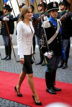 Royal Family Around the World: Spain's Queen Letizia and King Felipe at the Chigi Palace in Rome on November 19, 2014