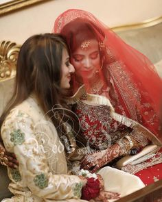 Sisters on Nikaah �� Photography by by & Dulhan Sisters Goals, Sister Love, Dress Collection, Veil, Beautiful Pictures, Fashion Dresses, Wedding Day, People, Bridal Jewellery