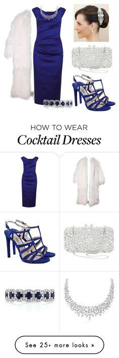 """Sapphire cocktails"" by stephaniecrooks on Polyvore featuring moda, Prada, Talbot Runhof, Natasha Couture e Mark Broumand"