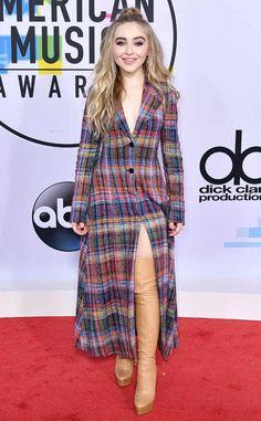 Sabrina Carpenter from 2017 American Music Awards: Red Carpet Fashion