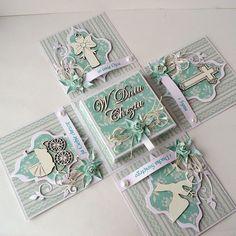 kartkulec www.perpatuatree.com Pop Up Cards, Cute Cards, Scrapbook Box, Scrapbooking, Exploding Gift Box, Box Cards Tutorial, Baby Box, Magic Box, Card Tags