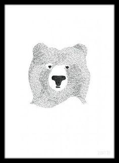 【楽天市場】SEVENTY TREE   BEAR OF FEW WORDS   A4 アートプリント/ポスター:北欧雑貨と音楽 HAFEN ハーフェン