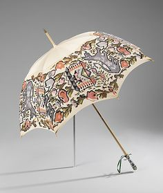 Parasol Made Of Cotton, Wool, Metal And Porcelain, Made By Dupuy - French   C.1900-1908  -  The Metropolitan Museum Of Art