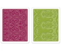 Sizzix Embossing Folders MOROCCAN DAYDREAMS SET - Brand New - Set of 2