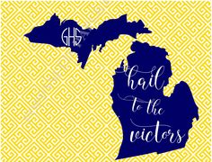 Hail to the Victors; University of Michigan; folded notecard