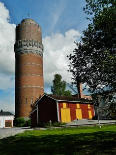 Water tower. Vaasa Finland. Finland Travel, Native Country, Family Roots, Water Tower, Romanesque, Ancient Architecture, West Coast, Denmark, Castles