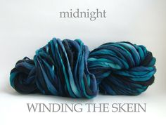 MIDNIGHT - Thick and Thin, Handspun Yarn