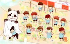 EXO chibi | FANART] Chibi Pre-School EXO by Mons | WiXing with YiXing