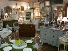 setting up antique mall booth | time worn interiors: While The Dealers Away, The Mall Owner Will Sell!