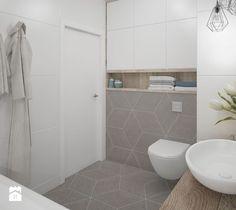 Aranżacje wnętrz - Łazienka: łazienka-jasna-biała-beżowa-biel-beż-drewno-w-łazience-romby - MIKOŁAJSKAstudio. Przeglądaj, dodawaj i zapisuj najlepsze zdjęcia, pomysły i inspiracje designerskie. W bazie mamy już prawie milion fotografii!