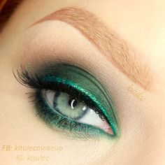 The Real Green - #realgreen #eyeshadow #eyemakeup #greenshadow #eyes #kitulec #makeup - bellashoot.com