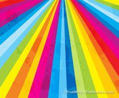 Vintage Splatter Rainbow Sunburst