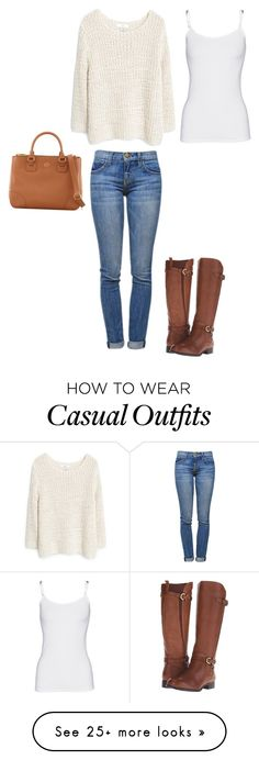 """Casual 1"" by emma-swanton on Polyvore featuring MANGO, Current/Elliott, Tory Burch, Naturalizer and Splendid"