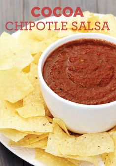 Make a delicious summer appetizer for your summer party with this Cocoa Chipotle Salsa recipe!