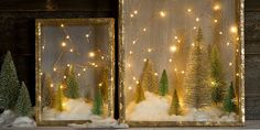 You don't have to be a crafting queen to whip up charming Christmas decorations. This enchanting shadow box DIY reminds us of stargazing on a cold Winter night. The best part? You can summon your inner Martha without even breaking a sweat!      Keep