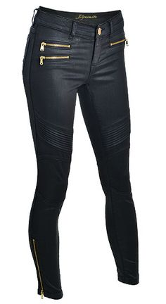 Dare to rock these sexy moto coated jeggings!