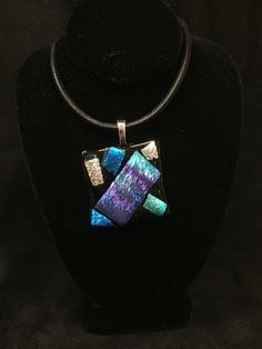 Dichoric Fused Glass Necklace by JniceCraftyCreation on Etsy