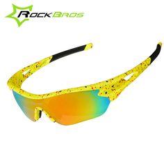 ROCKBROS Outdoor Sports Cycling Eyewear UV400 Polarized Cycling Glasses Mountain Bike Glasses Sunglasses Gafas Cicismo 3 Lenses