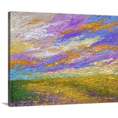 "Canvas On Demand 'Mini Landscape V' by Marion Rose Painting Print on Canvas Size: 16"" H x 20"" W x 1.25"" D"