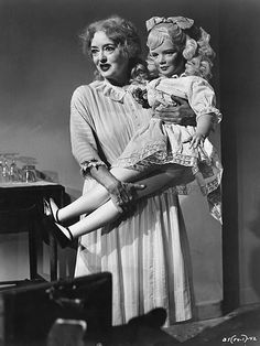 Bette Davis as Jane Hudson in What Ever Happened to Baby Jane? (1962)--Growing up the T.V was filled with old movies prob was 11 when I first saw this-loved it!