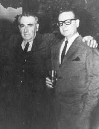 Pablo de Rokha y Salvador Allende.