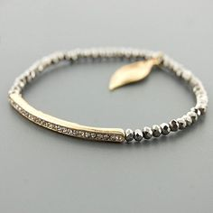 Crystal Bar Bracelet Graphite by jeneelovee on Etsy, $13.95 - So Simple, Yet Soo Sexii <3 it