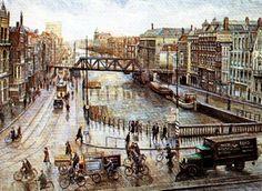 Vanaf oude Hofplein richting Schie(kade) jaar onbekend