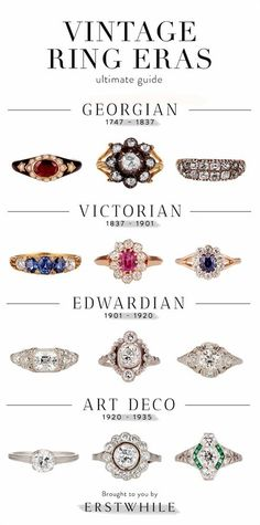 Ultimate Guide to Vintage Ring Eras More #VintageJewelry