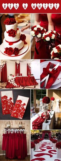 white and red wedding inspiration for winter and fall weddings