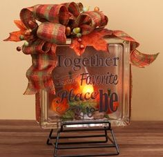 This Fall Glass Block Craft would look perfect in the coziest room in your home! Learn how to make yours, or find more fall decor crafts from Pat Catan's.