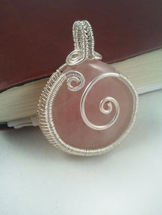 Wire Wrapped Pendant Rose Quartz Pendant Wire by EmmaWyattArt, £29.00