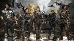 GOW- Gears of War Girls by JoesHouseOfArt.deviantart.com on @DeviantArt