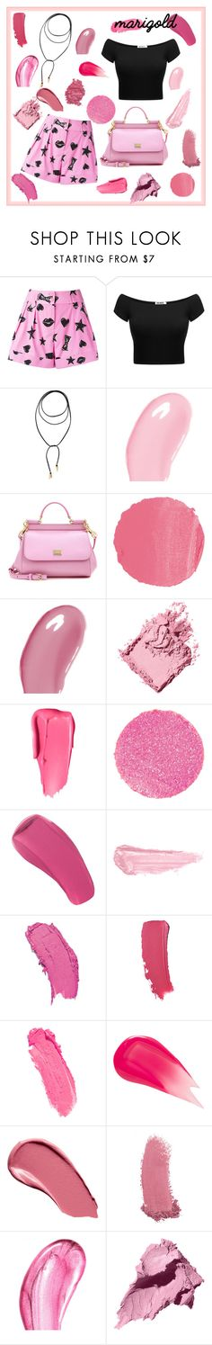 """Pink set"" by neiracilovic-i ❤ liked on Polyvore featuring Moschino, Vanessa Mooney, Christian Dior, Dolce&Gabbana, NARS Cosmetics, Bobbi Brown Cosmetics, Surratt, By Terry, Marc Jacobs and Burberry"