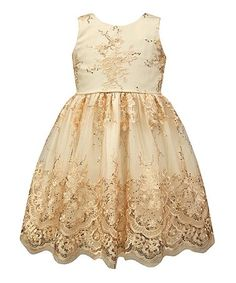 Love this Off-White Lace A-Line Dress - Toddler & Girls on #zulily! #zulilyfinds
