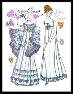 Natallie Nazareth Alcantara Chagas uploaded this image to 'Jane Austen/Jane Austen paper dolls'. See the album on Photobucket. Paper Dolls Clothing, Doll Clothes, Jane Austen, Paper Art, Paper Crafts, Paper Dolls Printable, Paper People, Bobe, Vintage Paper Dolls