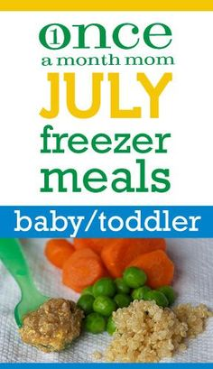 Freezer Baby Food menu for babies 6-9 months old or stage 1 to early stage 2. - Once A Month Meals - Freezer Meals - Freezer Cooking