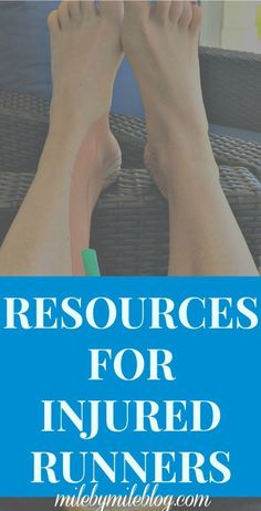 Dealing with a running injury? Check out some resources to help get you through it as quickly and safely as possible! #running #injuries #recovery