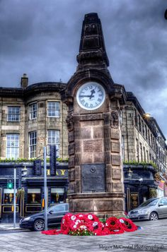 HDR Clock in Haymarket, Edinburgh