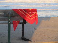Three Triangles Shawl Free Crochet Pattern
