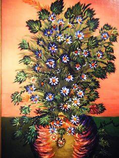Séraphine Louis, de Senlis Stained Glass Church, Art Brut, Naive Art, Religious Art, Natural World, Flower Art, Beautiful Flowers, Contemporary Art, Exotic