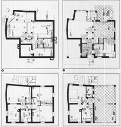 Haus M - Schwechat - Austria - Hermann Czech - 1981 Architecture Plan, Austria, Floor Plans, Models, How To Plan, Drawings, Icons, Haus, Templates