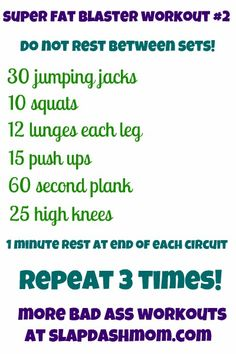 Slap Dash Mom Workout #2. No-gym-or-equipment excuses here!
