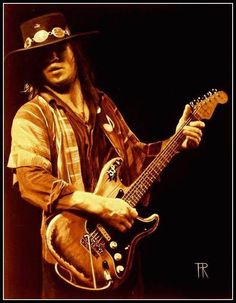 Stevie Ray Vaughan by Theo Reijnders. Heavy Metal, Heavy Rock, Steve Ray Vaughan, Jimmie Vaughan, William Christopher, Guitar Photos, Best Guitarist, Rockn Roll, Stevie Ray