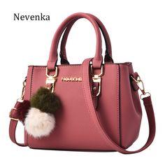 541a760f7794 Nevenka Women Bag Pu Leather Tote Brand Name Bag Ladies Handbag Lady  Evening Bags Solid Female Messenger Bags Travel Fashion Sac(China)