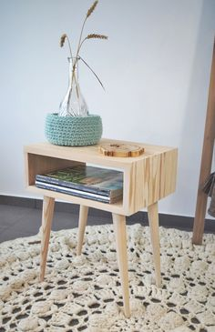 Bed Side Tables Midcentury Modern Furniture coffee by Holeybox