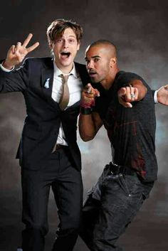 Matthew gray Gubler and Shemar Moore being silly