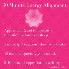 30 Minute Energy Alignment - Abraham Hicks